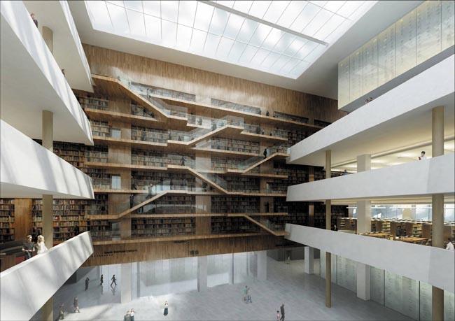 第十届中国艺术节重要场馆-山东省会文化中心图书馆